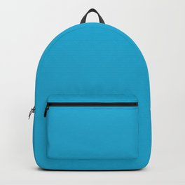 Battery Charged Blue - solid color Backpack