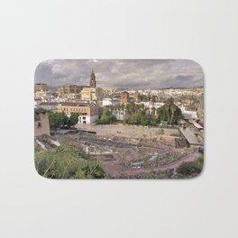Malaga Amphipheatre Cityscape Bath Mat