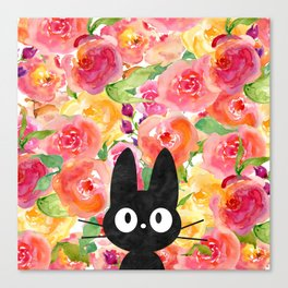Jiji in Bloom Canvas Print