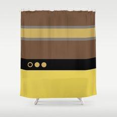 Geordie La Forge - Minimalist Star Trek TNG The Next Generation - 1701 D startrek Trektangles Shower Curtain