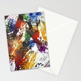 Artistic accidental print Stationery Cards