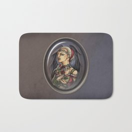 Marooned - Gothic Angel Portrait Bath Mat