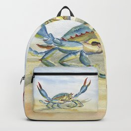 Colorful Blue Crab Backpack