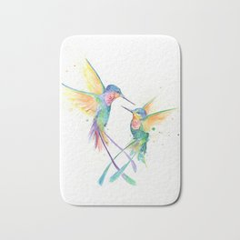 Hopeful Hummingbirds Bath Mat