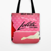 lolita Tote Bags featuring Lolita by Martin Woutisseth