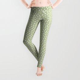 Little Dots Soft Green Leggings