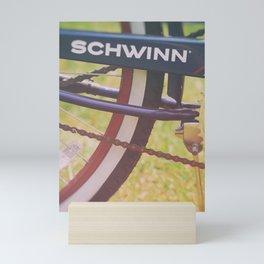 Vintage Schwinn Cruiser Motorized Bike Mini Art Print