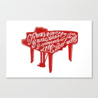 lyrics Canvas Prints featuring Piano lyrics by saralucasi