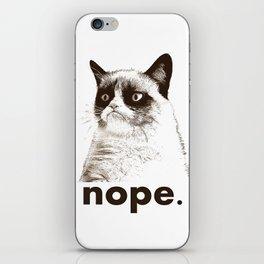 GRUMPY CAT - Nope (version 2) iPhone Skin