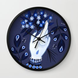 Forget Me Nots Wall Clock