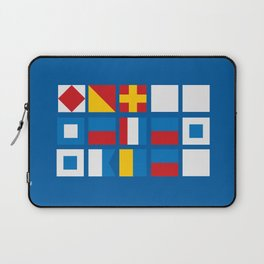 NAUTICAL FOR PETE'S SAKE Laptop Sleeve
