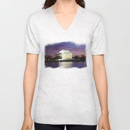 Jefferson Sunset Unisex V-Neck