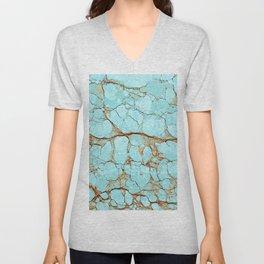 Rusty Cracked Turquoise Unisex V-Neck