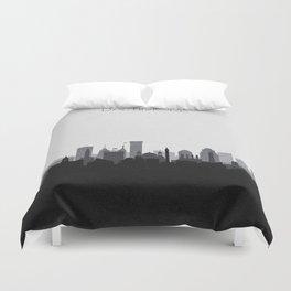 City Skylines: Baltimore (Alternative) Duvet Cover
