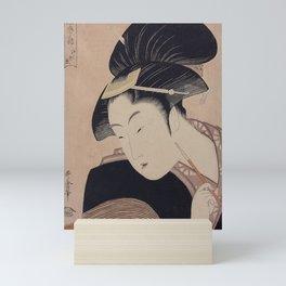 Vintage Japanese Ukiyo-e Woodblock Print Woman Portrait III Mini Art Print
