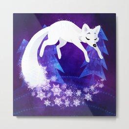 Snow Fox Dream Metal Print