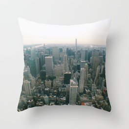 NYC Through a Lens Throw Pillow