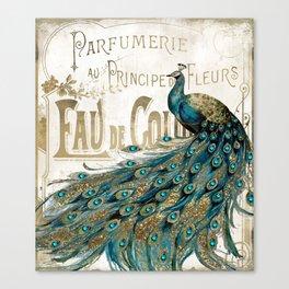 Peacock Jewels Canvas Print