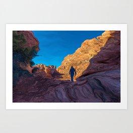 Hiking Girl II Art Print