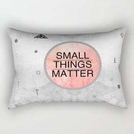 Small Things Matter Rectangular Pillow
