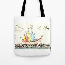 Sailing Cats Tote Bag