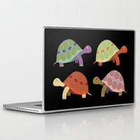 turtles Laptop & iPad Skins featuring Turtles by TypicalArtGuy