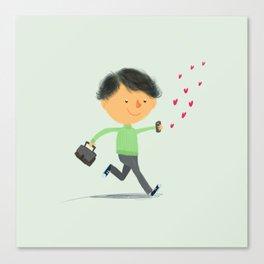 Boy in Love #3 Canvas Print