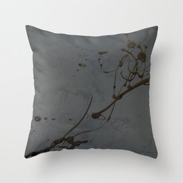 Jackson Pollock Inspired Study In Black - Glam Throw Pillow