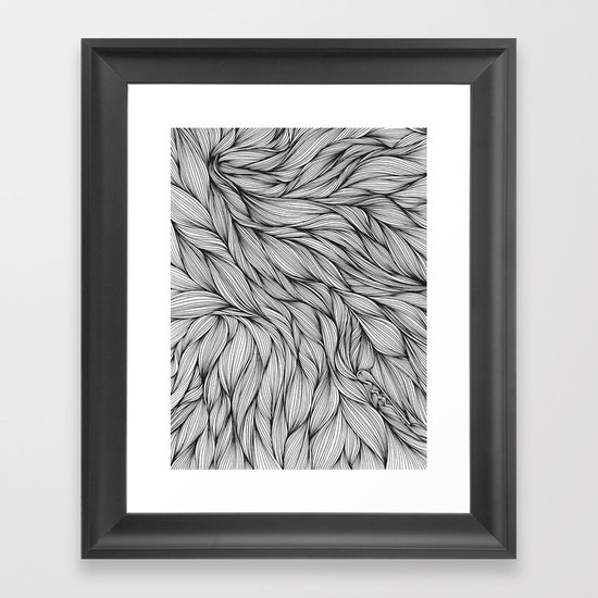 Pin in a Hairstack Framed Art Print