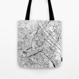 Vienna White Map Tote Bag
