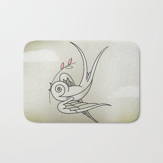 Peace Sparrow Bath Mat