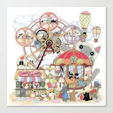 Amusement park Canvas Print