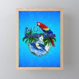 Island Time Surfing Framed Mini Art Print