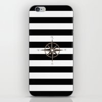 compass iPhone & iPod Skins featuring Compass by Andréa Bottalla