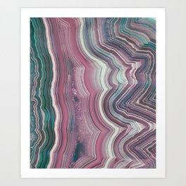 Candy Floss Agate Slice Art Print