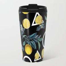 Geometric and Lemon pattern II Travel Mug