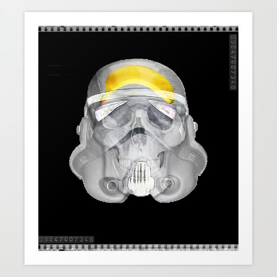 stormtrooper x-ray Art Print