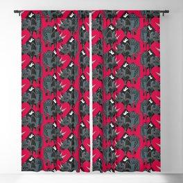rhinoceros red Blackout Curtain