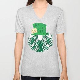 Starbucks 'We're All Mad Here' Unisex V-Neck