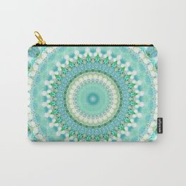 Sea Green Mandala Carry-All Pouch
