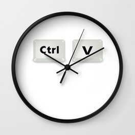 Control Copy Paste Ctrl Plus Gift Matching Couple Wall Clock