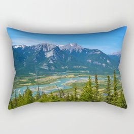 Overlooking the Athabasca River from the Morrow Peak Hike in Jasper National Park, Canada Rectangular Pillow