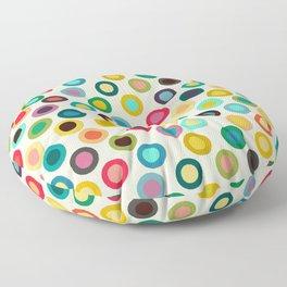 ivory pop spot Floor Pillow