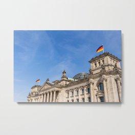Reichstag building Berlin Metal Print