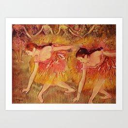 Edgar Germain Hilaire Degas Bowing Dancers 1885 Art Print