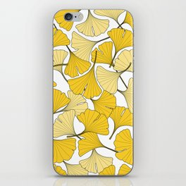 ginkgo leaves (yellow) iPhone Skin
