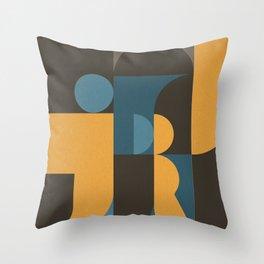 Information & Statement Geometric Throw Pillow