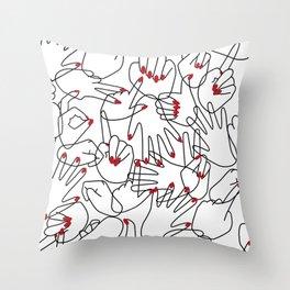 HANDS / pattern pattern Throw Pillow