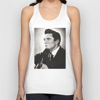 johnny cash Tank Tops featuring Johnny Cash by bellevuetriangle
