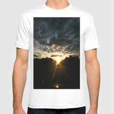 morning drive White Mens Fitted Tee MEDIUM